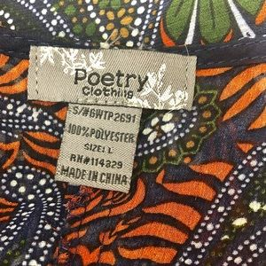 Poetry Dresses - Poetry Sheer Paisley Long Tunic